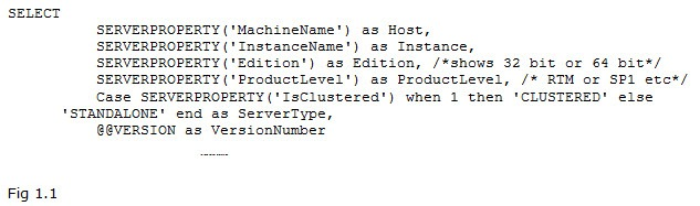Directions Training Microsoft SQL Server Figure 1.1