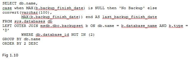 Directions Training Microsoft SQL Server Figure 1.10