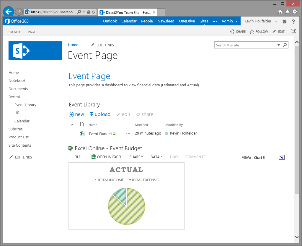 Dashboards In Sharepoint 2013 Using The Excel Web Access Web Part on embed excel workbook