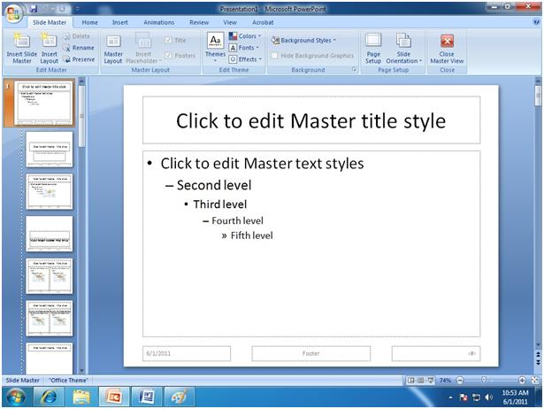 microsoft powerpoint training slide master in ms powerpoint