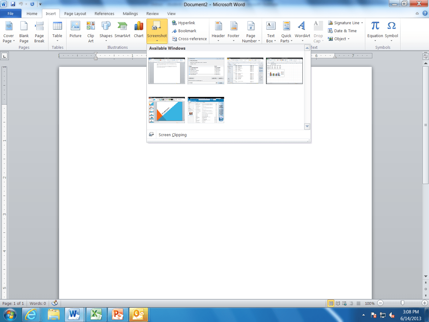 The screenshot capture tool in microsoft office microsoft training at this point if all you want is to capture an entire screen image simply click on the miniature picture thumbnail of the window you wish to capture and geenschuldenfo Choice Image