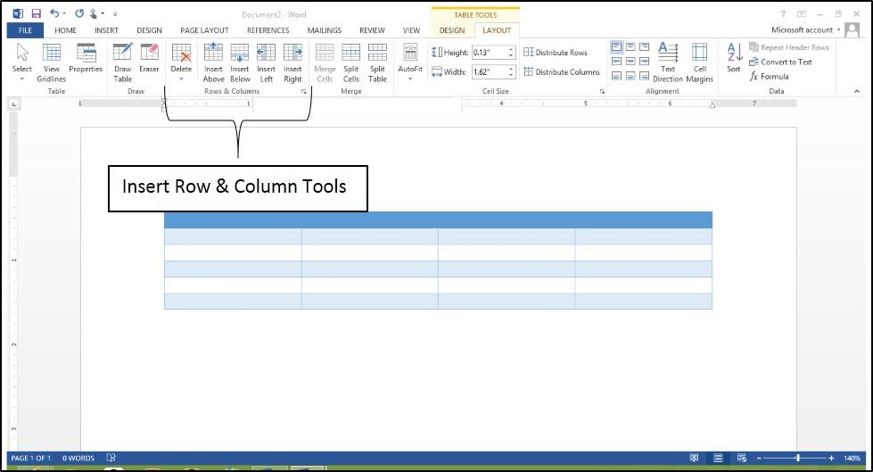 Table Tool Enhancements In Word 2013 Microsoft Training It