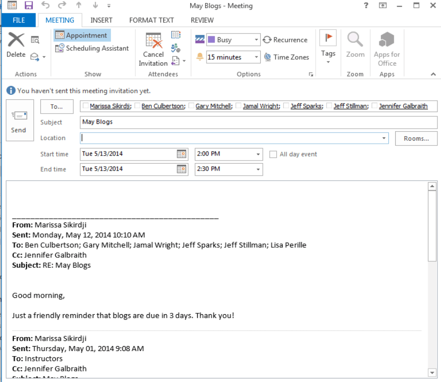 Turn an email into a meeting invite microsoft training for Email template to request a meeting