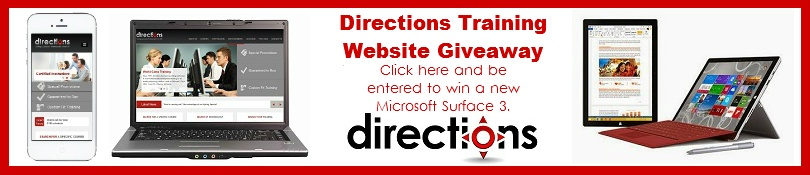 Directions Training Website Giveaway - Email blast
