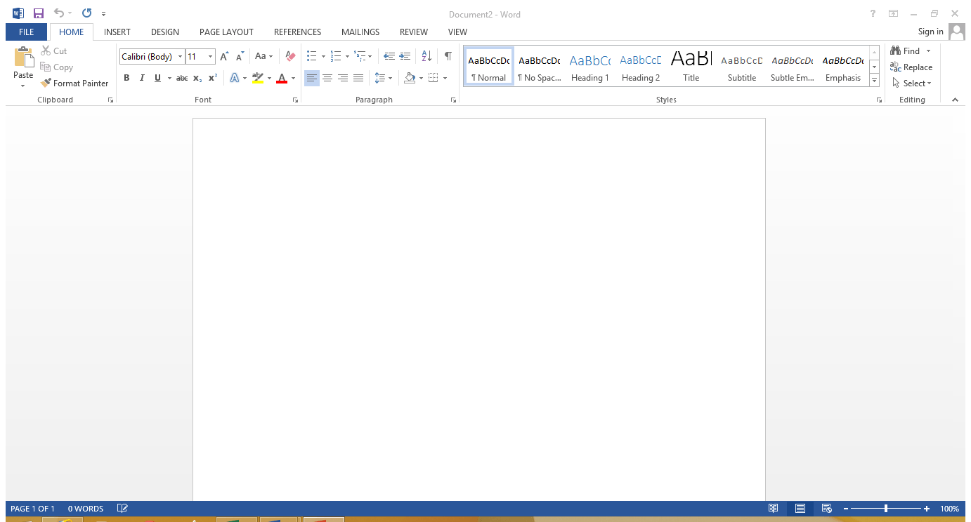 This is a screen shot of a Microsoft Office 2013 Word document with the white background.