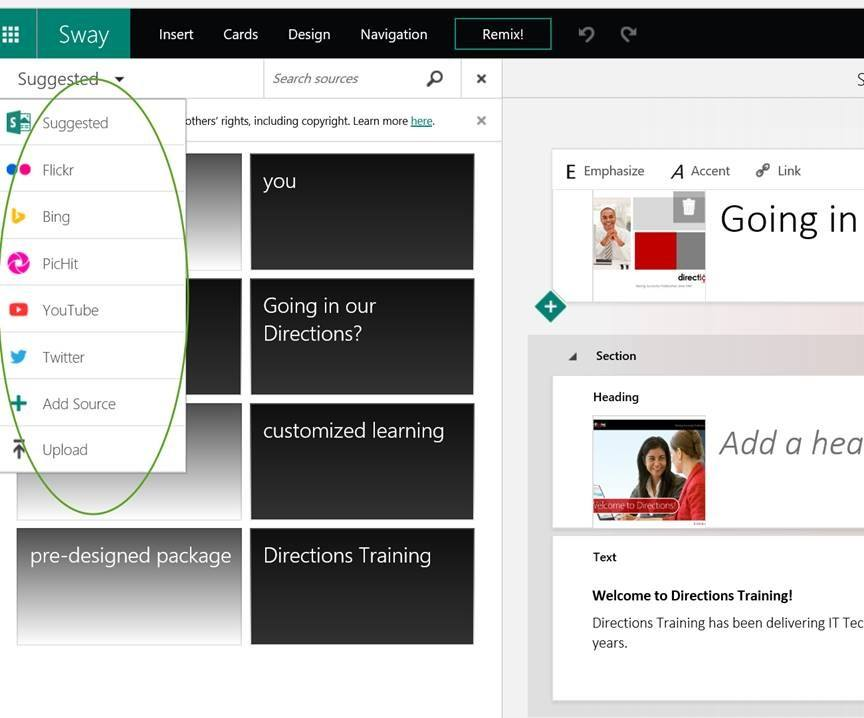 Introducing Sway From Microsoft Directions Training Blog
