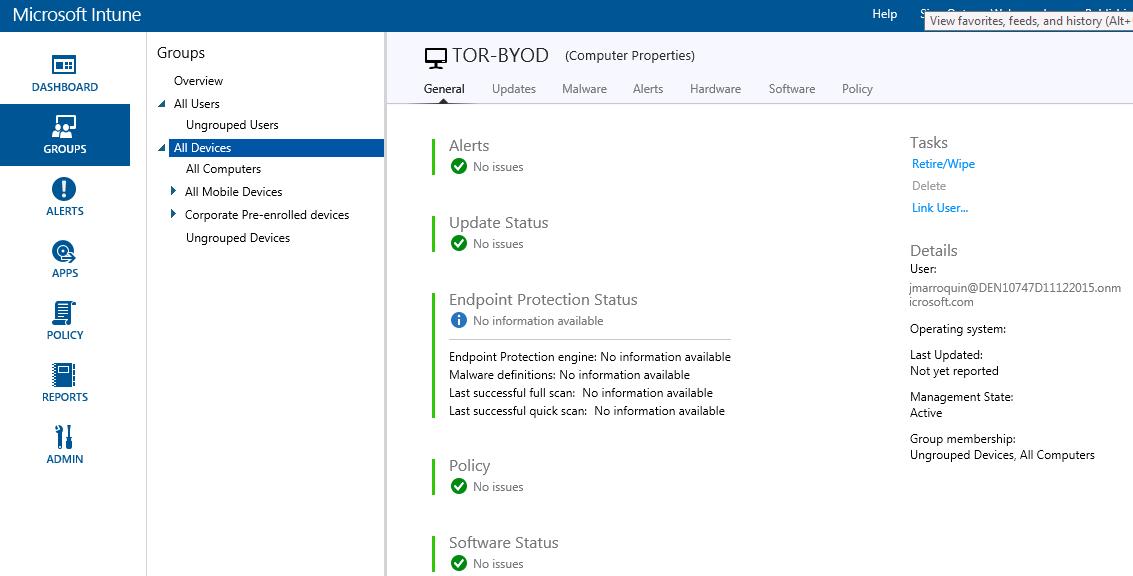 Microsoft Enterprise Mobility – Microsoft Intune